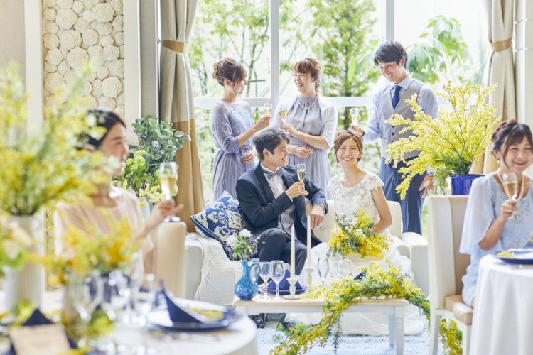 【ドレス&タキシード無料】挙式&アフターパーティ2部制プラン