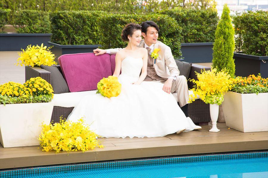 大人気の秋婚【東京シティビュー×海テラス】でリゾート婚体験。新作!色とりどり秋食材のフルコース試食