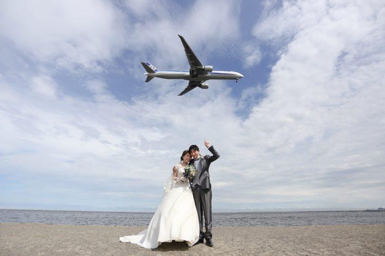 前撮りレポート『空と海と飛行機』